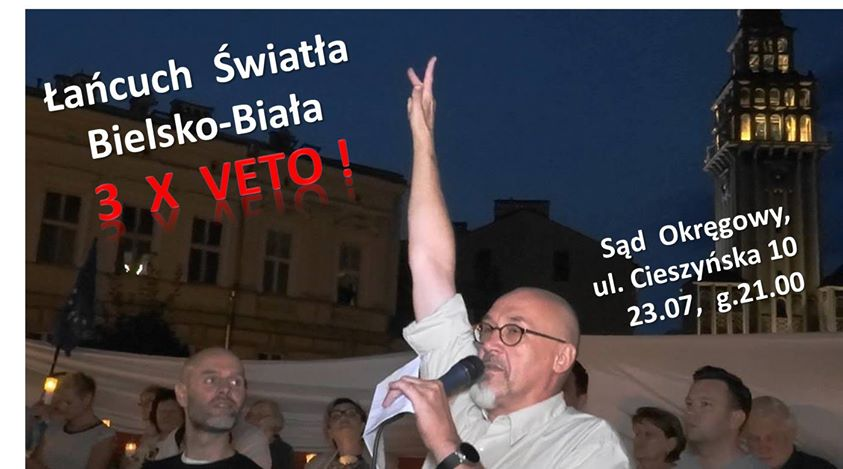 Protesty przed Sądem Okręgowym w Bielsku-Białej